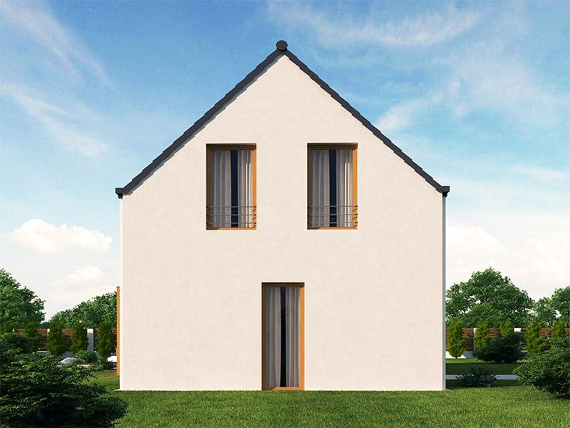 pohľad - perspektíva domu Blanka 33