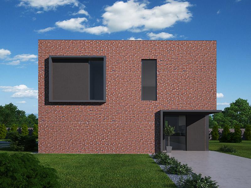 pohľad - perspektíva domu Rubik 1