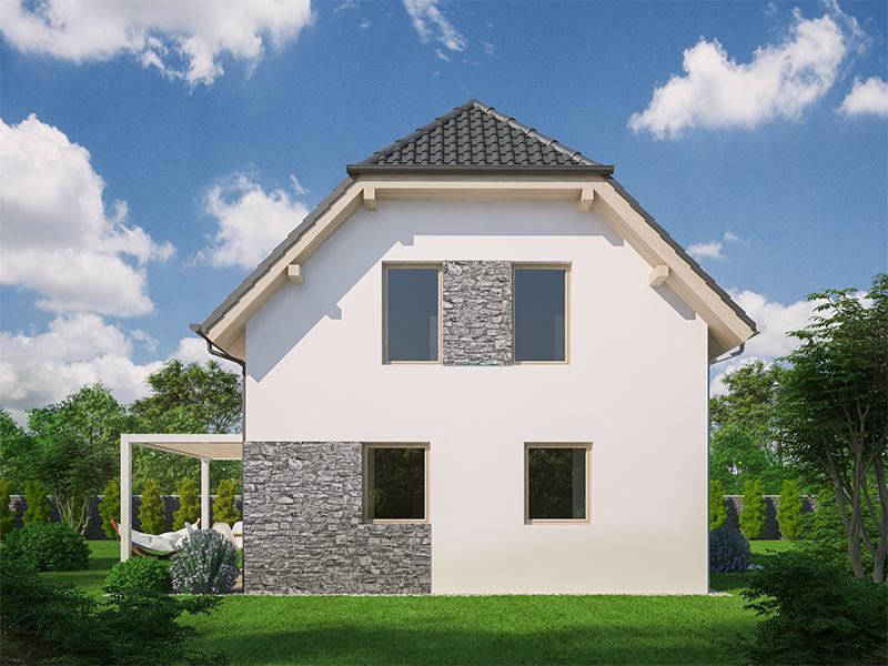 pohľad - perspektíva domu Blanka 3B