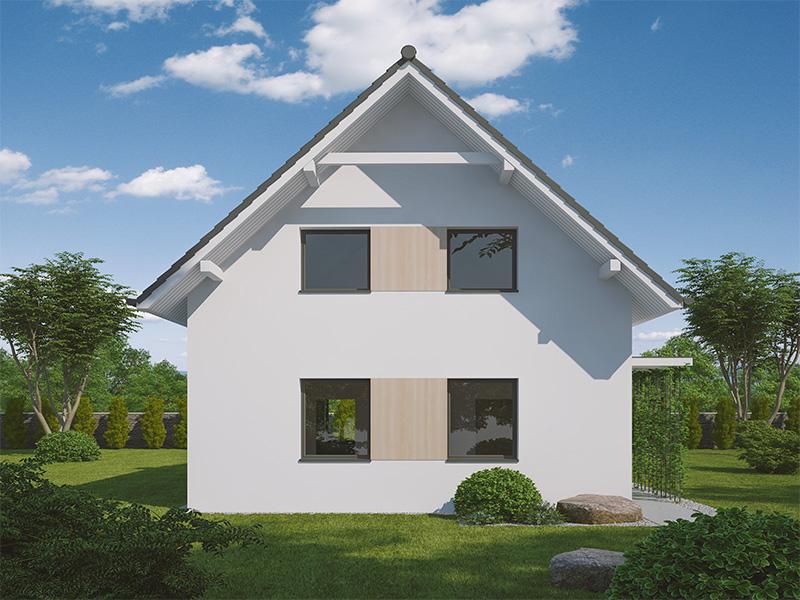 pohľad - perspektíva domu Miluška 4B